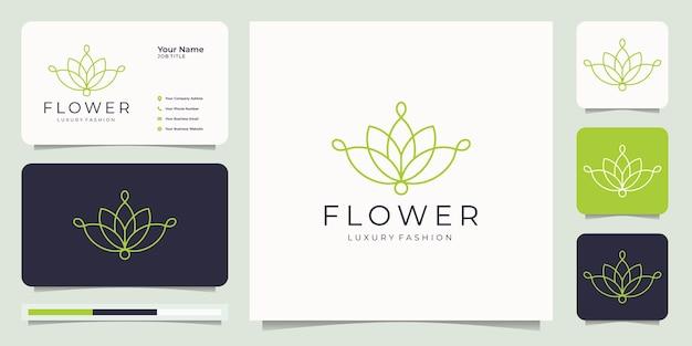 ミニマリストの花のロゴ。
