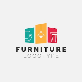 Minimalist furniture brand business company logo