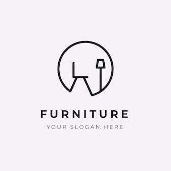 Минималистичный мебельный логотип компании