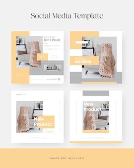 Minimalist furniture instagram social media post template