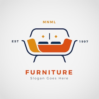 Minimalist furniture logo presentation
