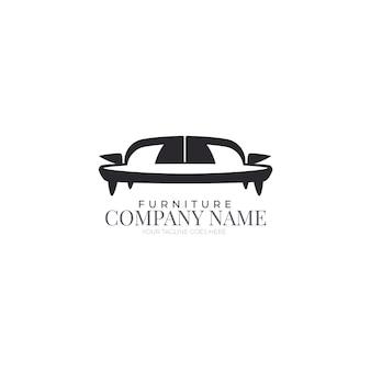 Минималистский шаблон мебели логотип
