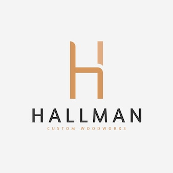Minimalist furniture logo