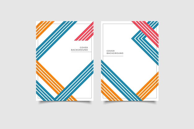 Минималистский геометрический дизайн обложки