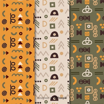 Minimalist geometric shapes memphis pattern