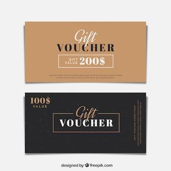 Minimalist gift vouchers