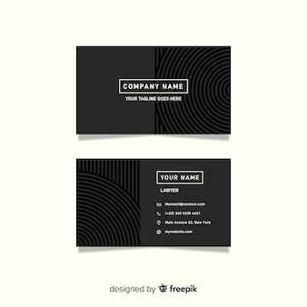 Minimalist grey business card template