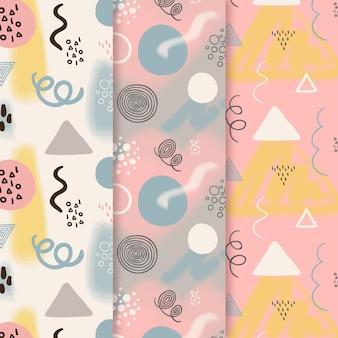 미니 멀 손으로 그린 패턴 컬렉션