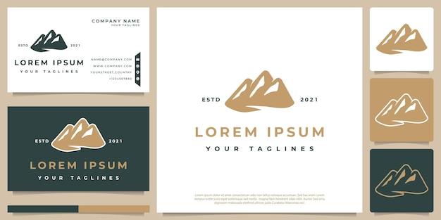 Minimalist hipster mountain logo