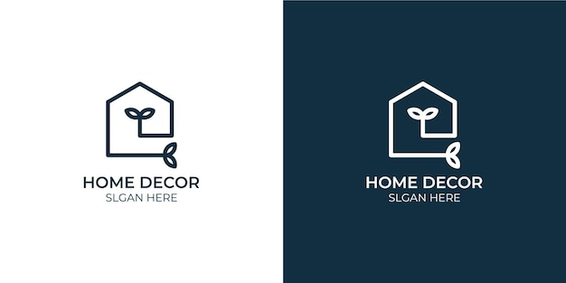 Minimalist home decor logo set