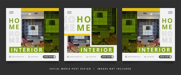 Minimalist home interior flyer or social media banner