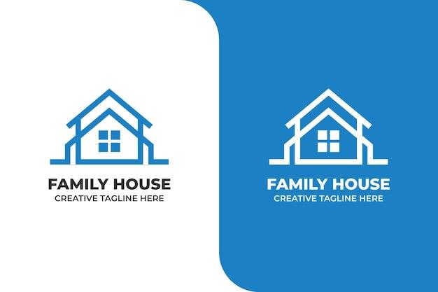 Minimalist house building logo