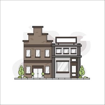 Minimalist house design in line concept