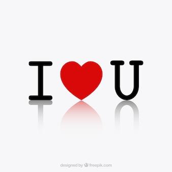 Минималистский я люблю тебя