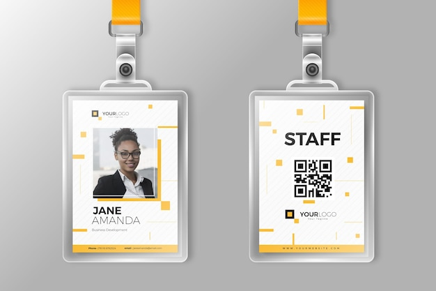 Minimalist id cards for company stuff