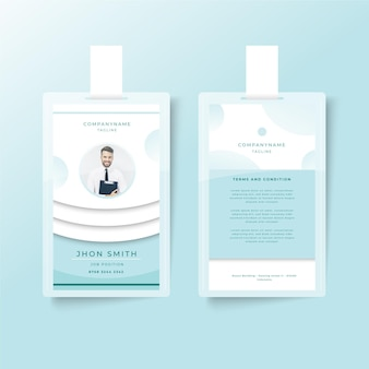 Minimalist id cards template design