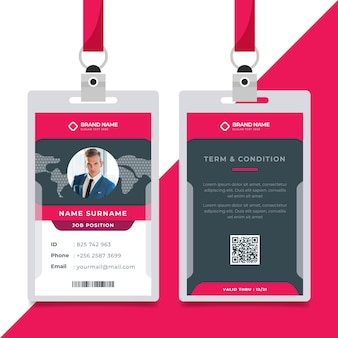 Minimalist id cards template with photo