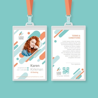 Minimalist id cards template with picture
