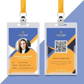 Minimalist id cards template