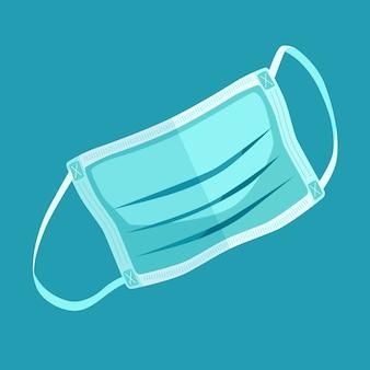 Минималистская иллюстрация медицинской маски