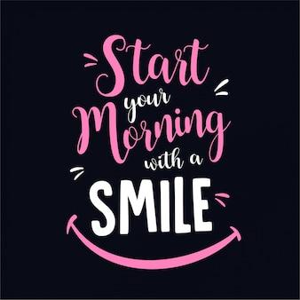 Minimalist inspirational typography quote