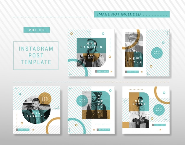 Minimalist instagram or social media post design