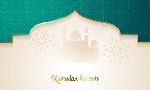 모스크 장식으로 미니멀리스트 이슬람