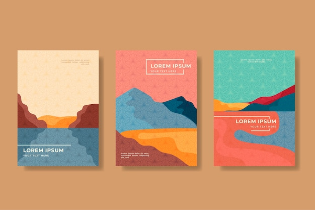 Minimalist japanese cover collection concept