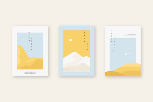 Minimalist japanese cover collection