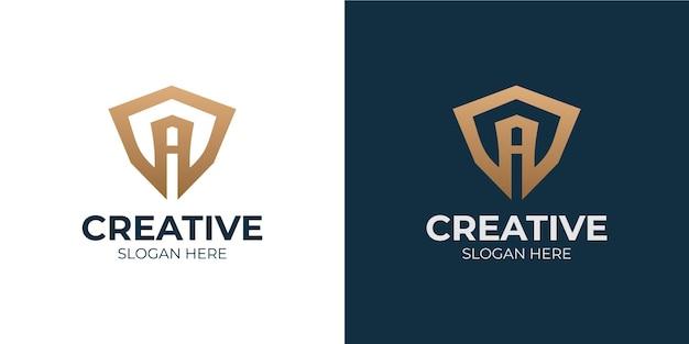 Минималистичный набор букв a логотип