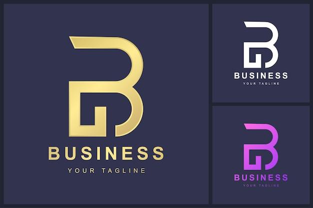 Minimalist letter b logo template design