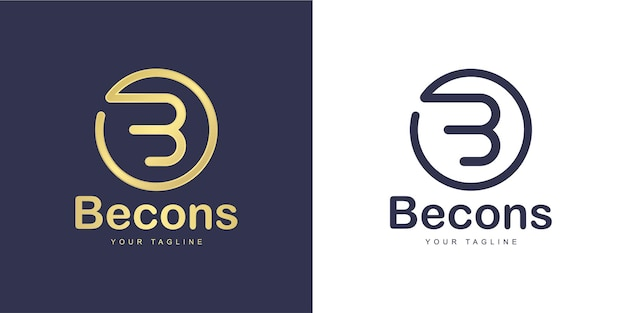 Minimalist letter b logo with