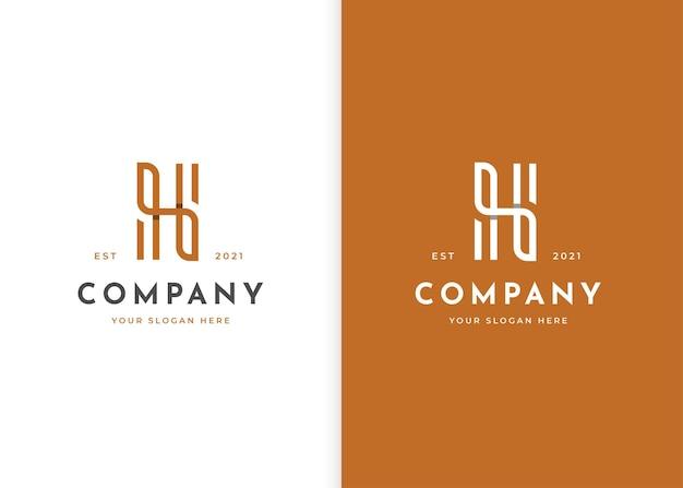 미니멀리즘 편지 h 럭셔리 로고 디자인