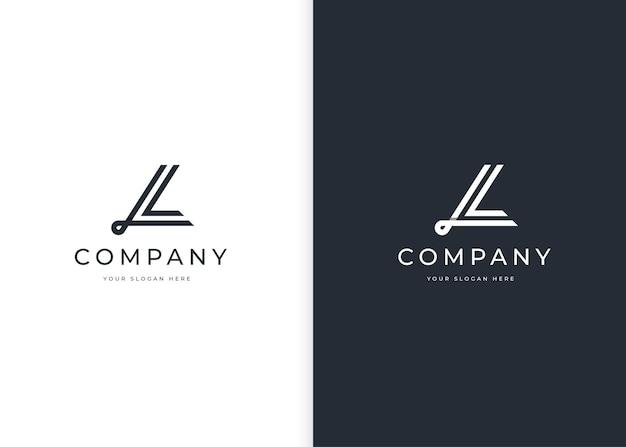 Минималистский шаблон дизайна логотипа буква l