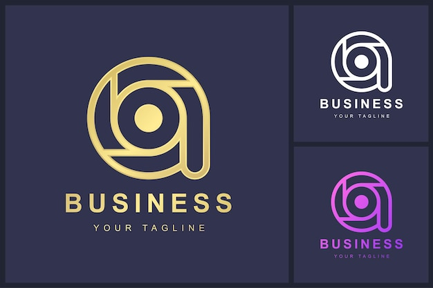 Minimalist letter a logo template design