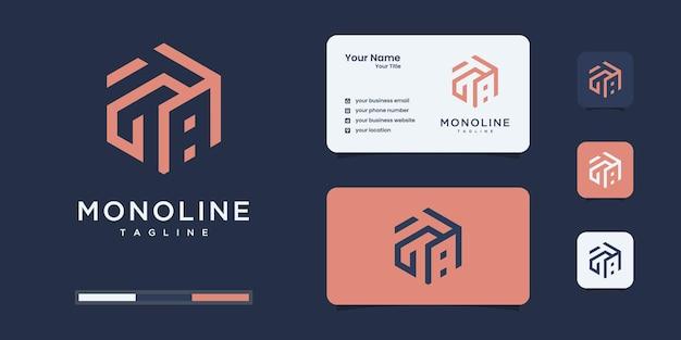 六角形の概念を持つミニマリストの文字t。 tロゴはあなたの会社のブランドアイデンティティに使用されます。