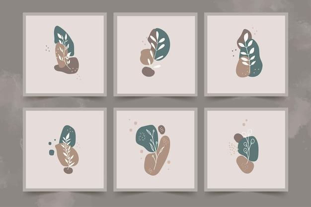 抽象的な背景を持つミニマリストの線画の花