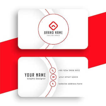 Minimalist line style white business card template