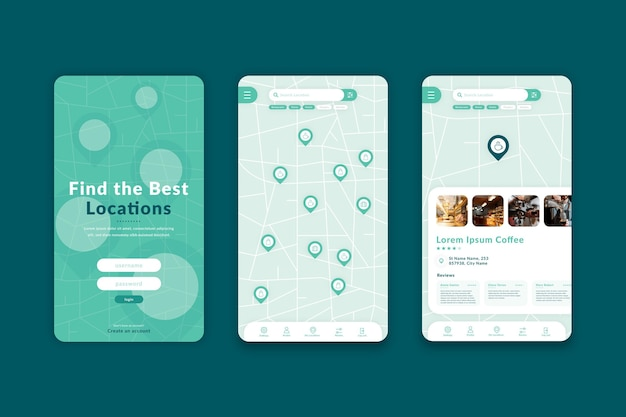 Minimalist location app template
