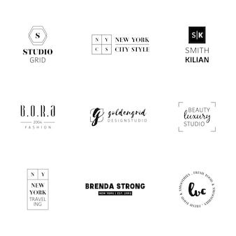 Minimalist logo templates collection
