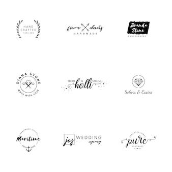 Minimalist logo templates collection