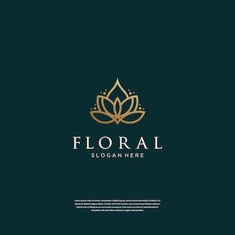 Минималистичный дизайн логотипа цветок лотоса вдохновение