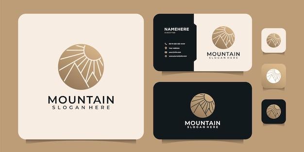 ミニマリストの豪華な冒険山のロゴデザイン要素ピークヒル遠征