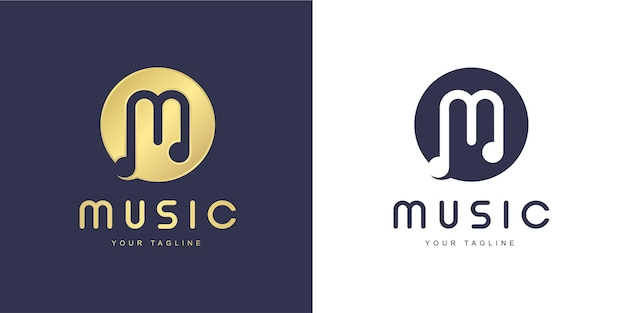 Minimalist m letter logo with