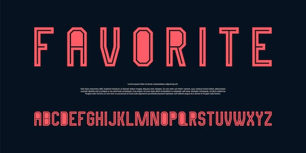 Минималистский современный алфавит шрифт