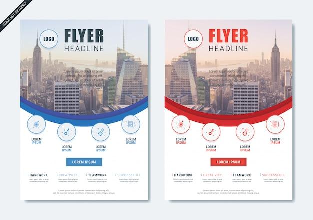 Minimalist modern flyer brochure layout
