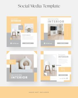 Minimalist modern furniture instagram post template