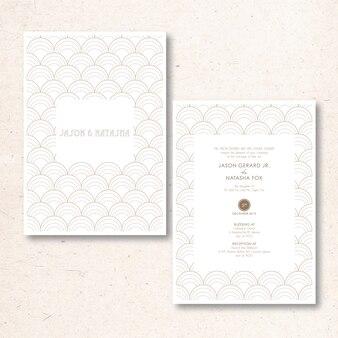 Minimalist and modern gold invitation