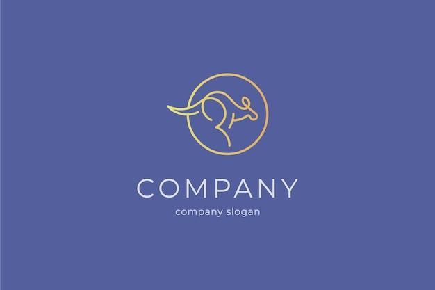 Minimalist modern kangaroo logo template