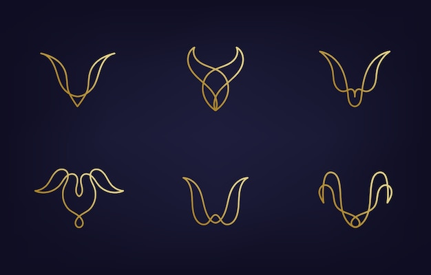 Минималистичные современные шаблоны дизайна логотипа